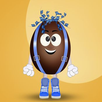 chocolate egg cartoon