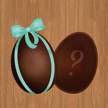 illustration of chocolate egg