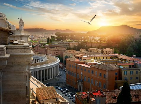View on Vatican city