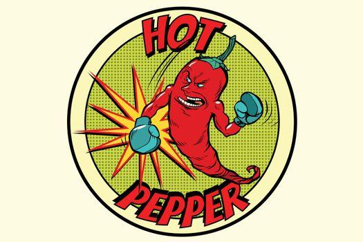 emblem strong red pepper, spicy taste