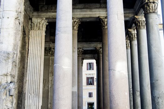 Pantheon Colonnade in Rome