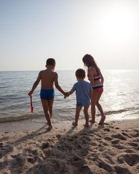 Kids Back Sea Ocean