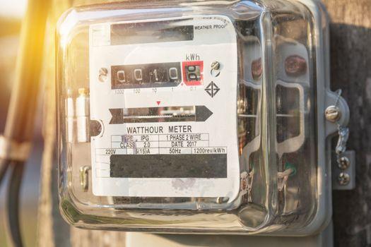 Analog electric meters. Watt hour electric meters. Electricity c