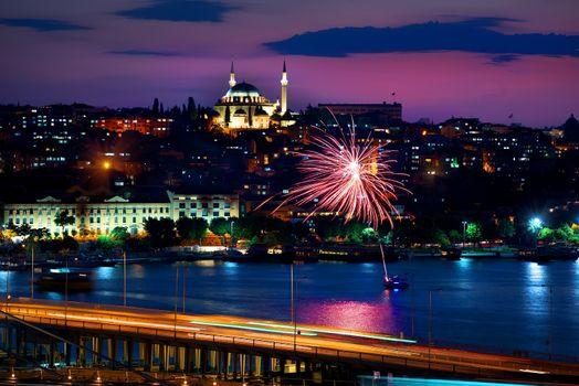 Ataturk bridge and cityscape