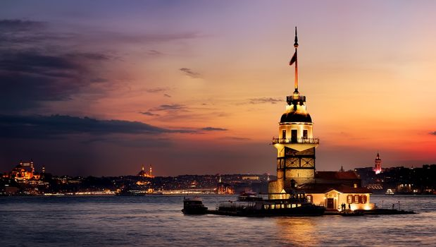 Maiden Tower at sunset