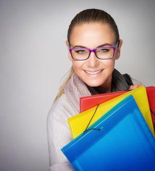 Beautiful smart student