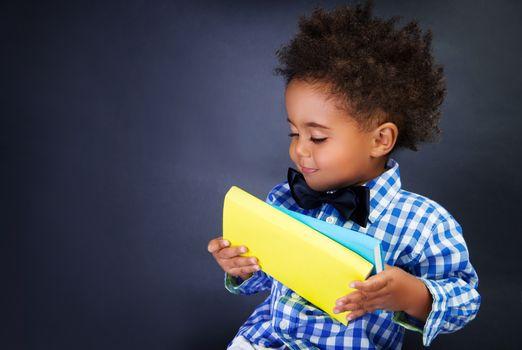 Cute little schoolkid
