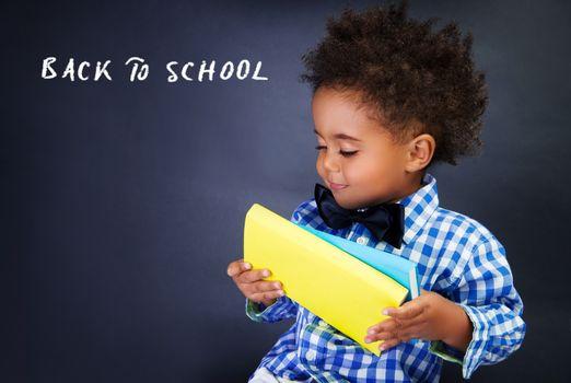 Cute little schoolboy