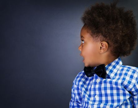 Little African schoolboy