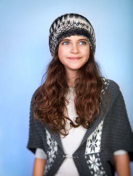 Stylish teen model