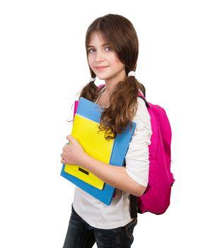Cute schoolgirl portrait