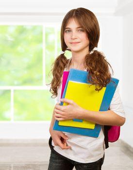 Pretty girl in the classroom