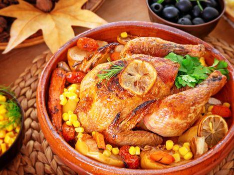 Thanksgiving day family dinner