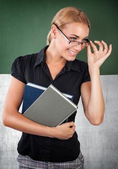 Cute cheerful teacher