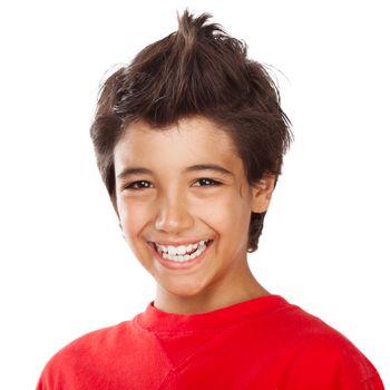 Cheerful boy portrait