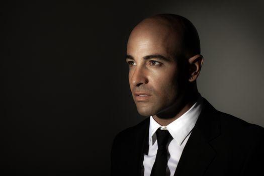 Stylish man in black suit