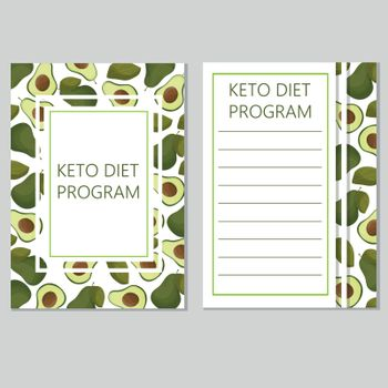 ketogenic diet template, low carbs, high healthy fat
