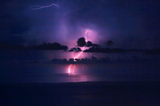 Beautiful lightning landscape