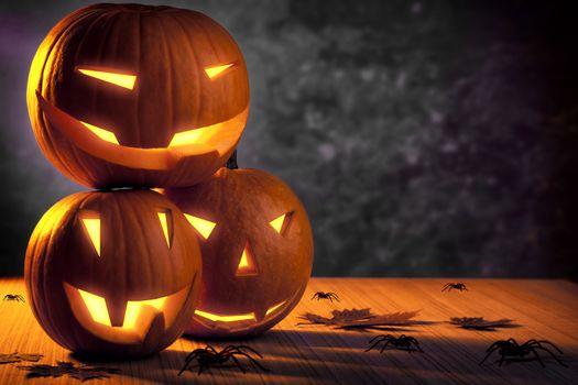 Grunge Halloween pumpkins