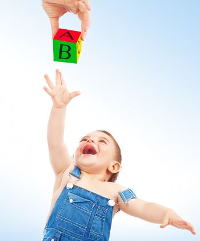 Happy child having fun