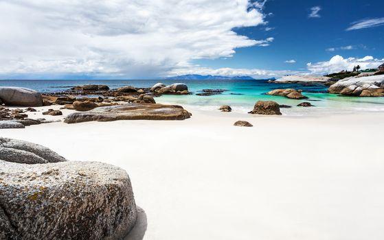 Beautiful South African beach landscape