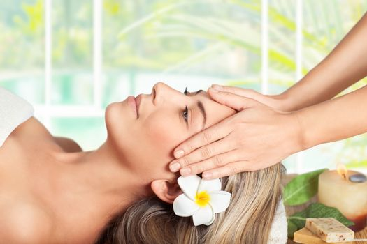 Woman on the facial massage