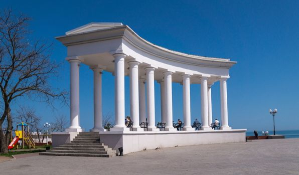 Colonnade in the city of Chernomorsk