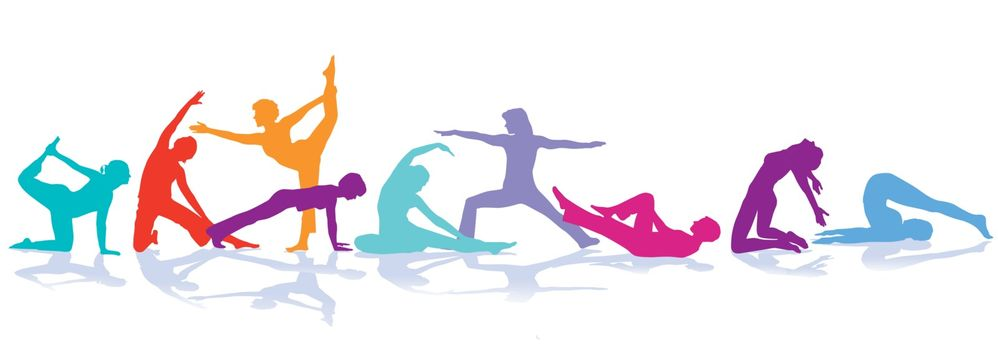Gymnastics figures, sport illustration