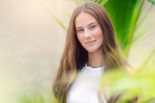 Beautiful youthful girl portrait