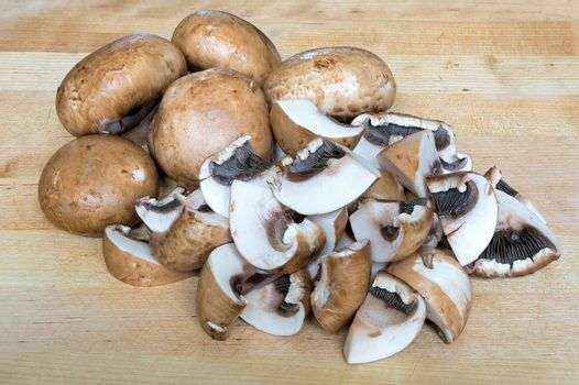 Baby Portobello Mushrooms Whole and Chopped