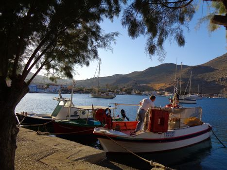 fisher boat in greece