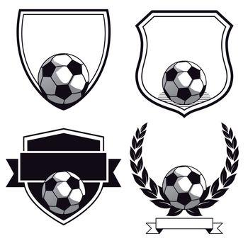 Set of football club emblems