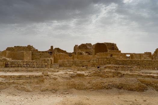 Shivta archaeology ruins in israel