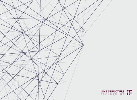 Abstract overlap lines structure on white background.