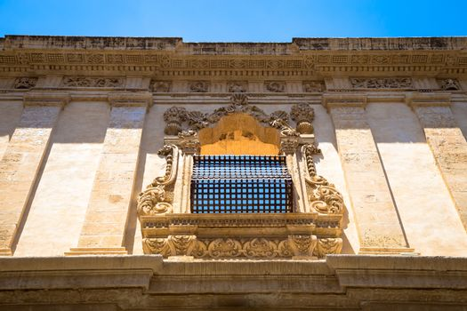 NOTO, ITALY - traditional window design in the monastery close t