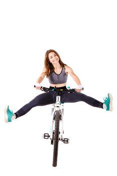 girl on a mountainbike