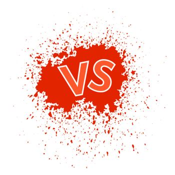Concept of Confrontation Final Fighting. Versus VS Letters Fight Background