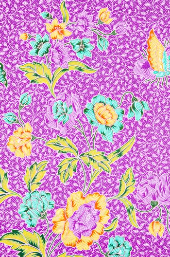 Flora pattern for traditional clothes.