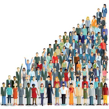 an international population, illustration