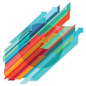 Dynamic path symbol, abstract illustration