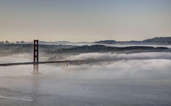 Fog Golden Gate Bridge