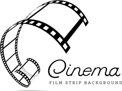 Film strip vector illustration on white background