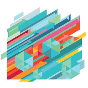Dynamic pattern, abstract illustration