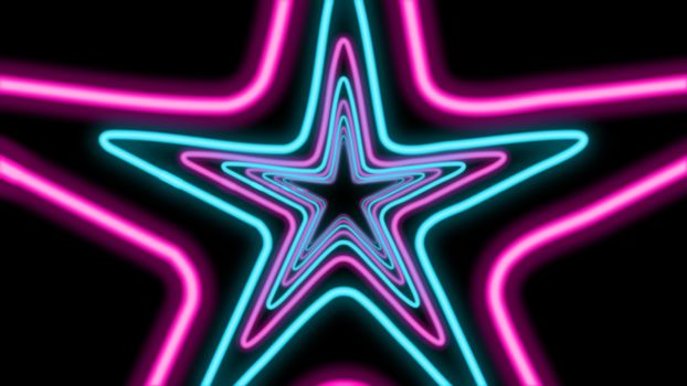 Abstract Five-Pointed Star Tunnel