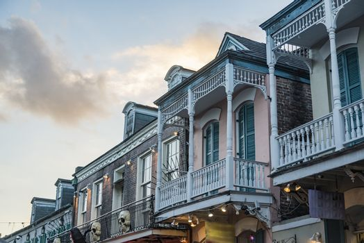 Historic house in the French Quarter in New Orleans LA