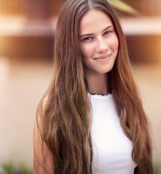 Authentic girl portrait