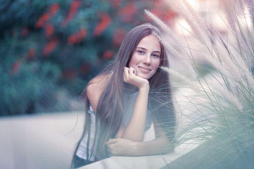 Pretty woman in the park
