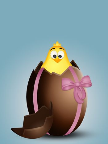 chick in the chocolate egg