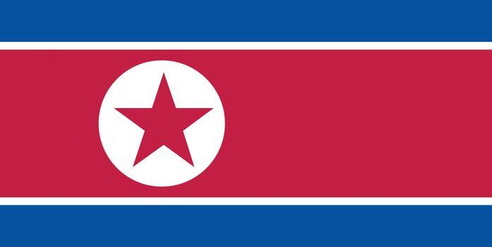 North Korea Flag Illustration