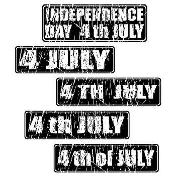 4th of July celebration rubber stamp set